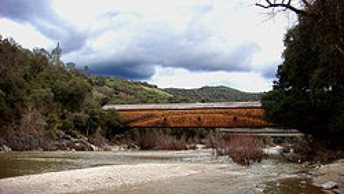 Bridgeport Covered Bridge in Nevada County, California