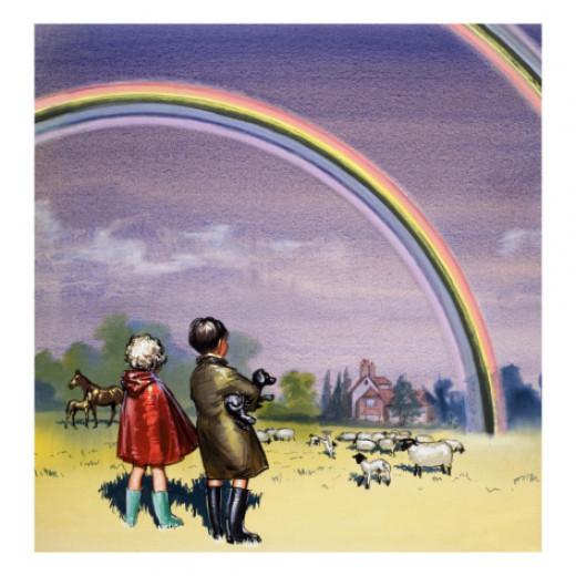 R for Rainbow, Illustration from 'Treasure', 1963