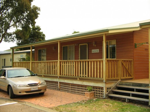We stayed in a Cabin in Lakes Entrance