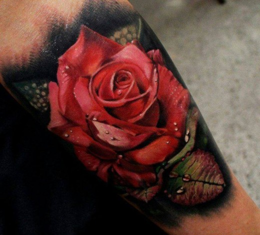 Rose tattoo on underarm for How much should a tattoo cost