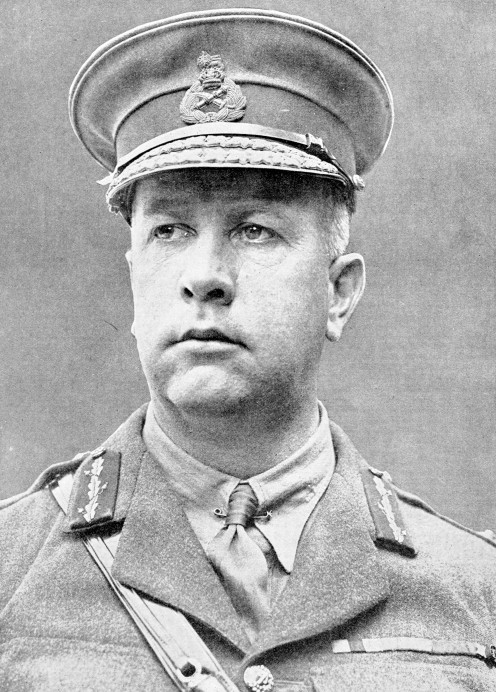 Lieut.-Gen. Sir Arthur William Currie, K.C.M.G. Succeeded General Byng in Command of Canadian Corps, 1917.
