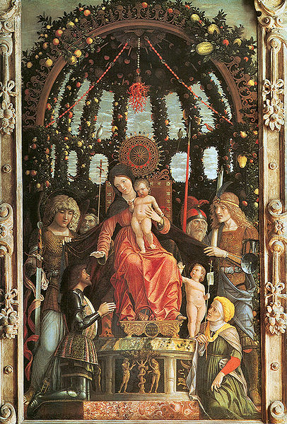 Our Lady of Victory (1496, Louvre). The painting was placed in the chapel of the Victory, erected to celebrate the win against the army of Charles VIII.