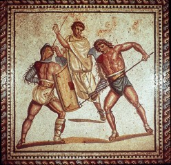 What was the person called who owned Ancient Roman Gladiators before they were owned by the Emperor?
