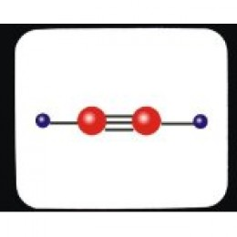 Ethyne Molecule (Carbon=red, Hydrogen=blue, each line = 1 pair of electrons bonded to each other)