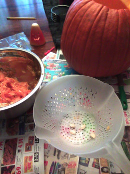 Carve your pumpkin and take their seeds!