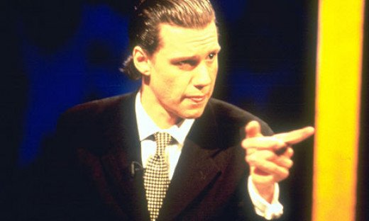 Christopher Morris as his alter ego on Brass Eye.