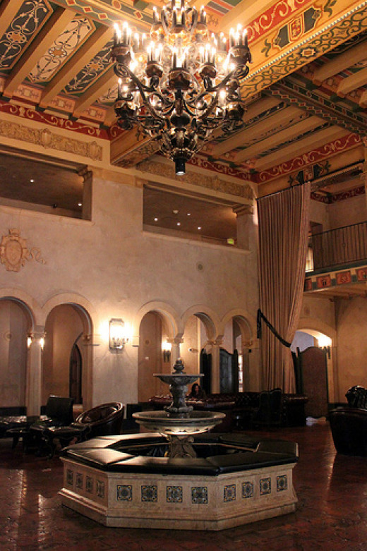 The lobby - the hotel is thought to be haunted. People have even reported seeing Marilyn Monroe.