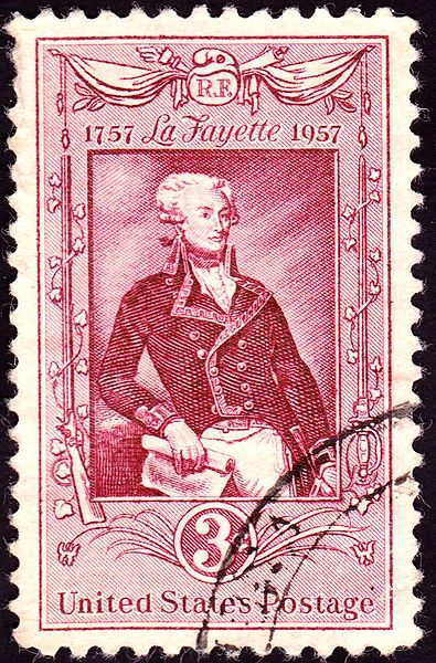 La Fayette on a US postage stamp