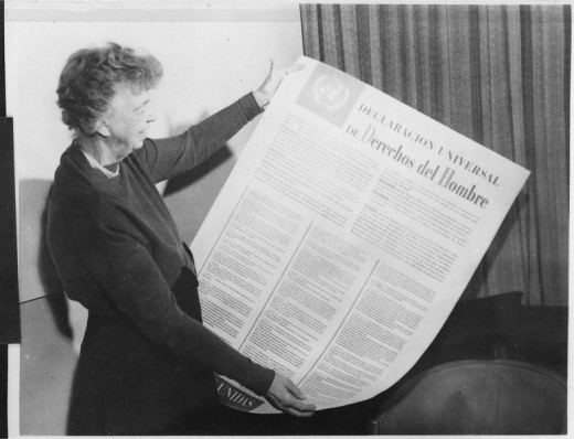 Eleanor Roosevelt and United Nations Universal Declaration of Human Rights (in Spanish)