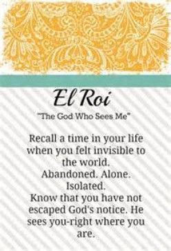 The God who Sees - (El Roi)