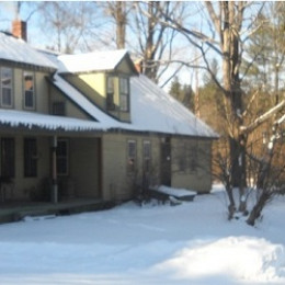 This is the way my Bed and Breakfast looks in winter after a freshly, fallen snow. The storm windows are on. The furnace is refilled.