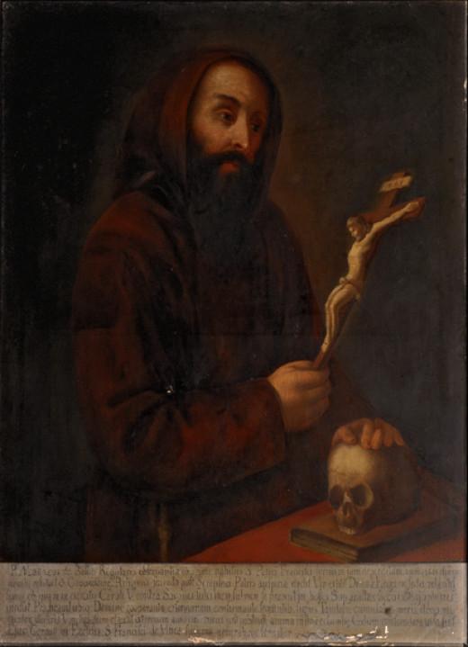 Friar Matteo and skull.