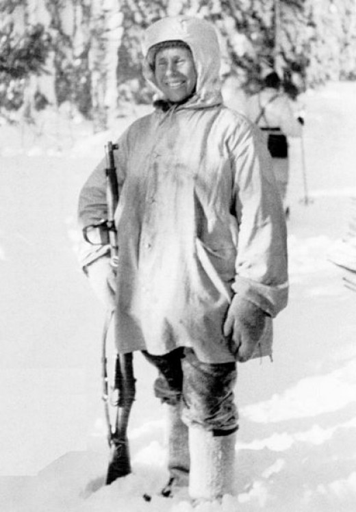 Simo Haya, Finnish Sniper and holder of the world record for most sniper kills in a major war.