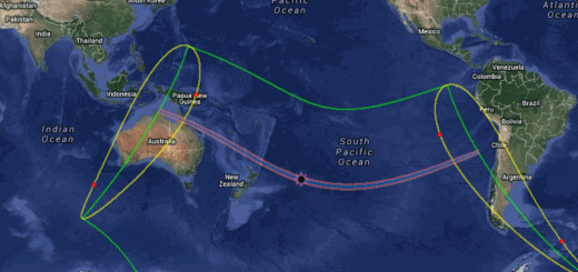 Eclipse path for Total eclipse of 11/13/12.