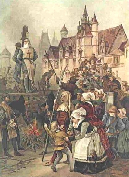 Depiction of the execution of Jaques de Molay