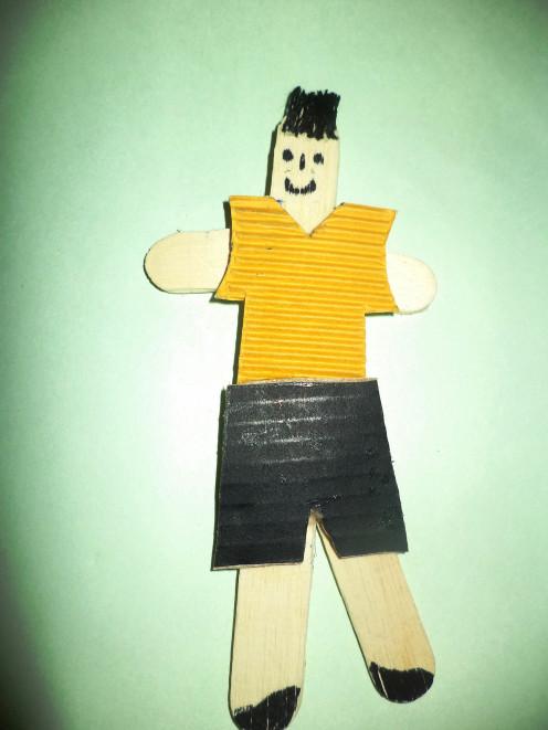 Boy Craft Using Ice Cream Sticks