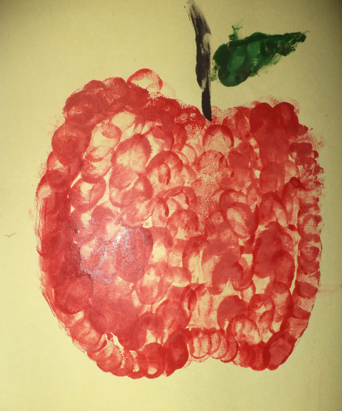 Fruit using thumb impression