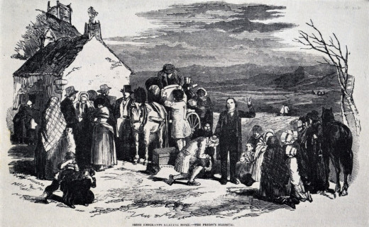 Ulster residents settle in the Colonies.