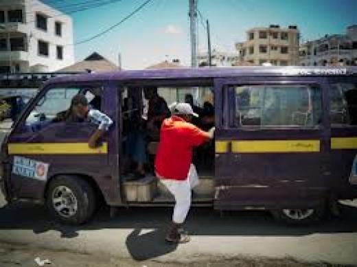Nairobi matatus (Public transport vans)
