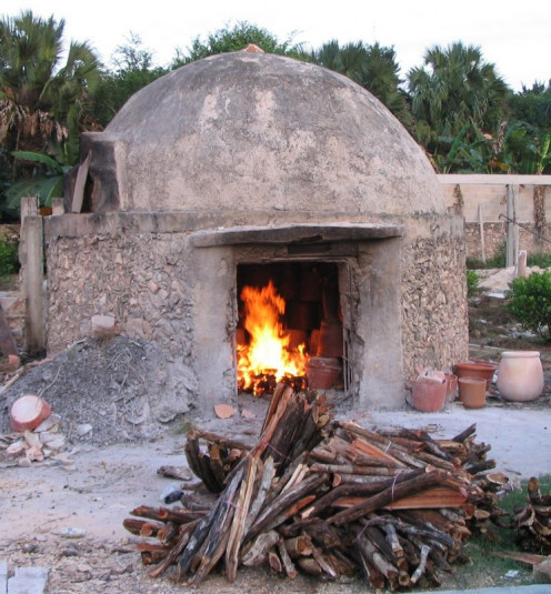 A furnace used for the firing of pottery.  Do you know what it is called?