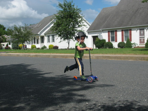 Mini Micro Scooter with T-bar Handle