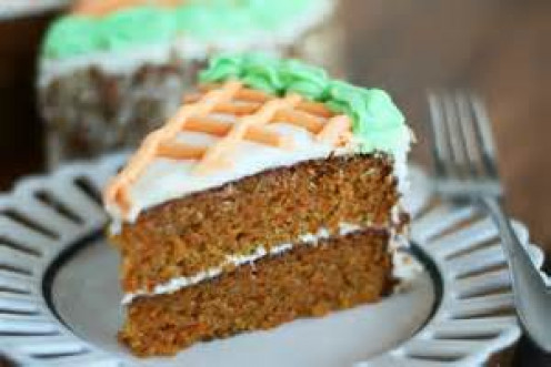 two layered carrot cake