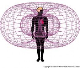 Electromagnetic field around the heart and body.
