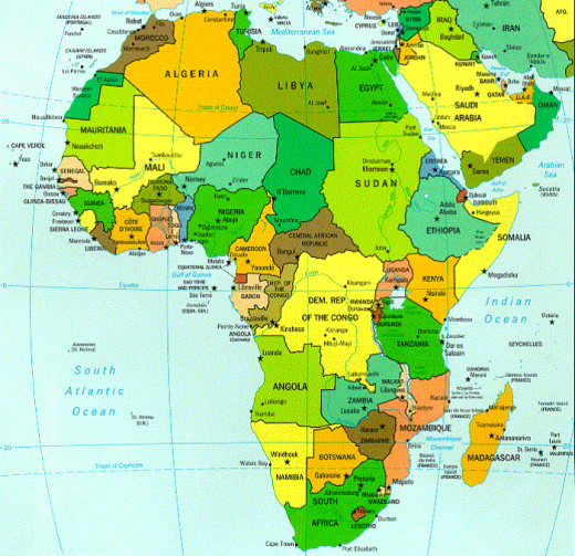 Many Global south countries are in Africa