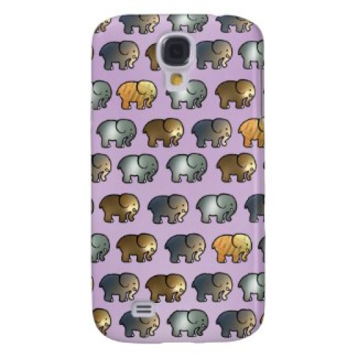 The metallic elephants, here seen on a Samsung S4 case are less successful.