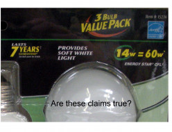 Energy-Saving Lightbulbs:  Truth or Advertising?