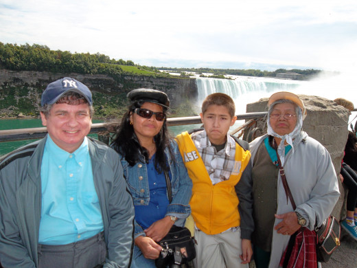 The Family on trip to Niagara Falls, Ontario