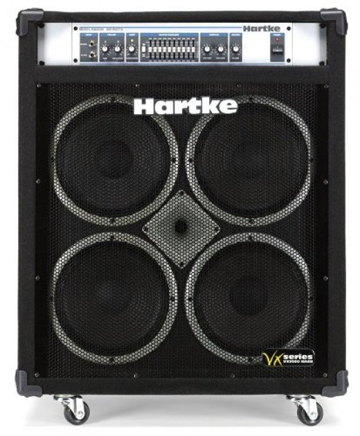 The Hartke VX3500 is a monster, and one of the best bass combo amps under $1000.