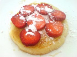 Add strawberries or other fruit to your Michigan Pancake.