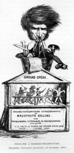 Comic Depiction of Berloiz Composing Cellini
