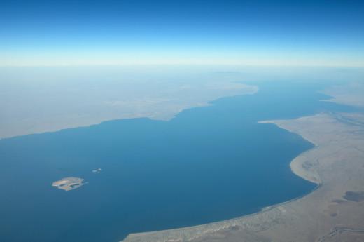 Aerial view of Lake Turkana