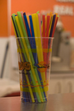 A cup of colorful drinking straws--Wikimedia Commons