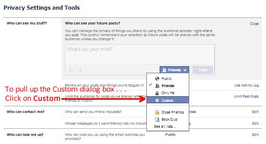 Custom Dialog Box for Future Facebook Posts