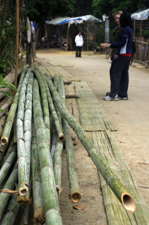 Bamboo - Split, flattened and dried