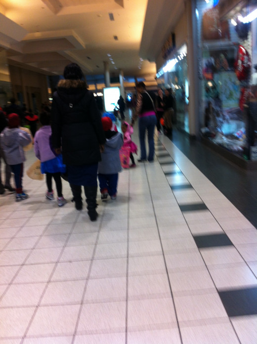 Trick or Treating at the local mall .... Everybody was there.  And I do mean EVERYBODY!