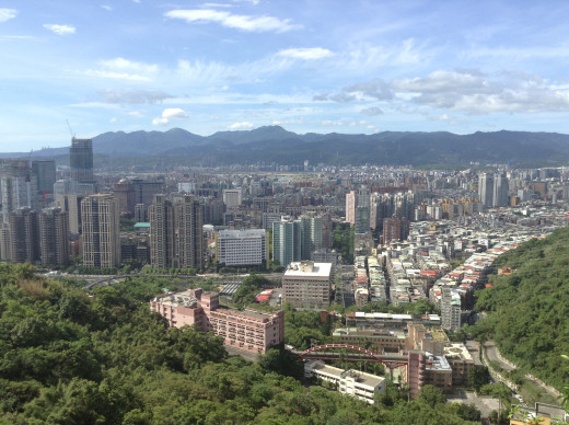 Taipei during a wonderful weather