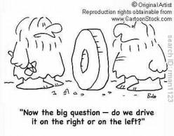 Why do American's drive on the right & the British on the left? Why does only a quarter of the world drive on the left?