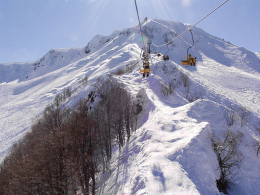 Ski Area in Krasnaya Polyana in the Western Caucasus