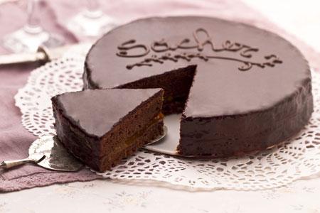 Sacher torte - a Viennese specialty dessert.
