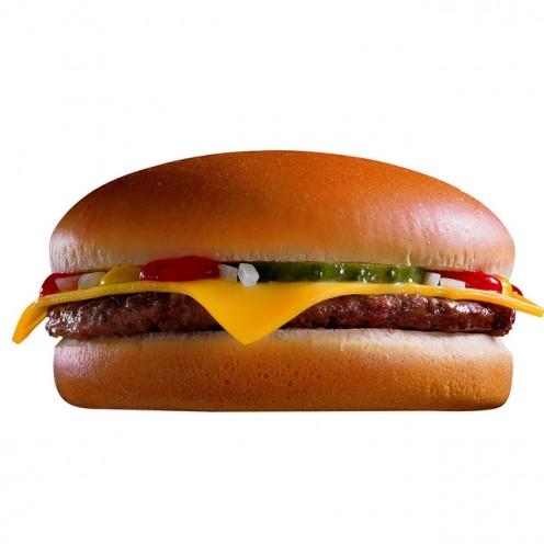 A McDonald's cheeseburger has 300 calories.