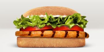 Burger King's tendergrill chicken sandwich without mayonnaise has 400 calories.