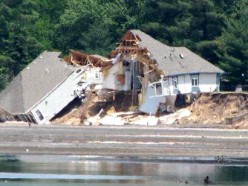 """""""...the floods came, and the winds blew and beat on that house and it fell. And great was it's fall"""" (Matt. 7:27)."""