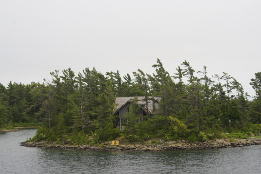 You can rent out a cottage like this one on one of the 30,000 islands of Georgian Bay.