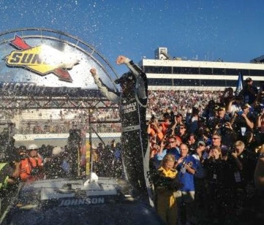Earnhardt finished second to Johnson at Dover (and Daytona) earlier this year