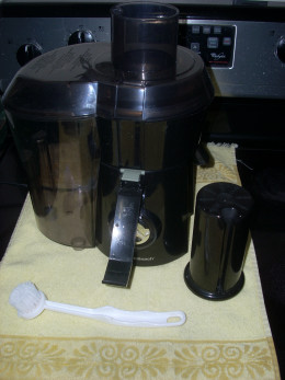 Juicer with Brush and Pusher