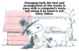 Adding words/quotes to a design can be done by hand or with a computer.